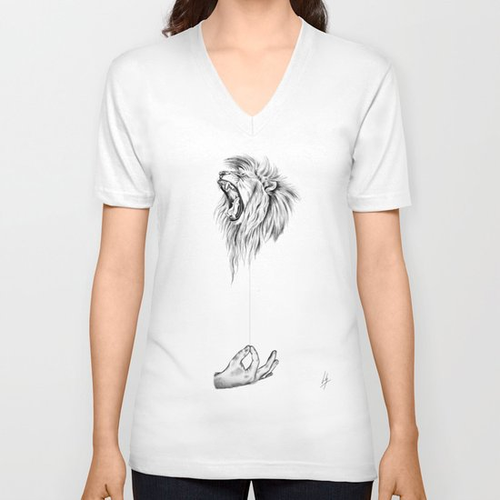 Hear me Roar V-neck T-shirt