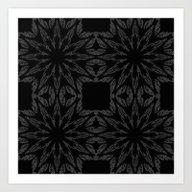 Slate Gray Colorburst Art Print