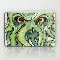 Laptop & iPad Skin featuring Cthulhu by Olechka