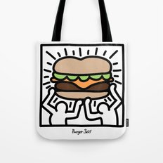 Pop Art Burger #1 Tote Bag