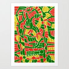 - christmas compression - Art Print