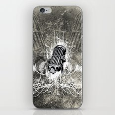 Music, microphone with floral elements  iPhone & iPod Skin