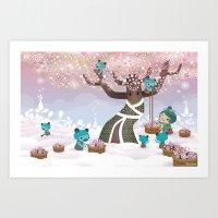 Cloudseeders Spring Harv… Art Print