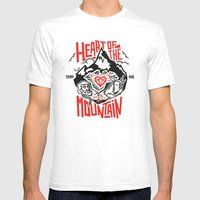 Heart of the Mountain Mens Fitted Tee White SMALL
