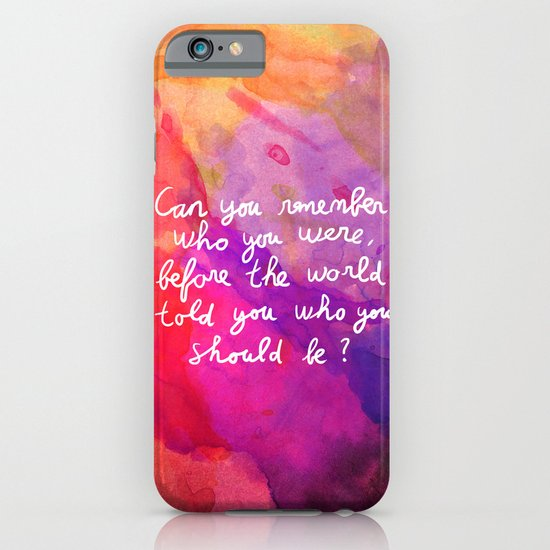 Remember who you are iPhone & iPod Case