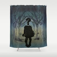 Into the wild. Question series  Shower Curtain