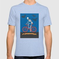 HELL ON WHEELS Mens Fitted Tee Tri-Blue SMALL