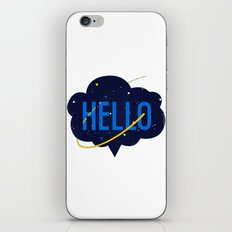 Hello Cloud iPhone & iPod Skin