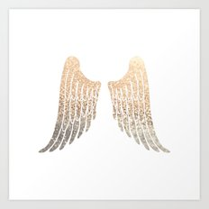 GOLD WINGS Art Print