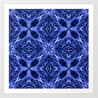 Art Print featuring Abstract Geometric Light… by J&C Creations