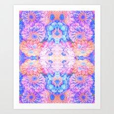 Pyschedelic floral Art Print