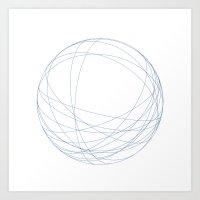 #491 Orbits – Geometry… Art Print