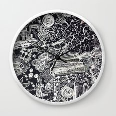 White/Black #2  Wall Clock