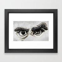 Doubt Black Eyes Framed Art Print