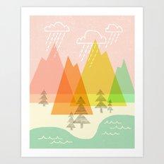 Raindrop Valley Art Print