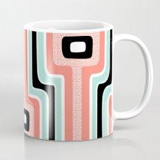 Coral Stripe Mod Mug