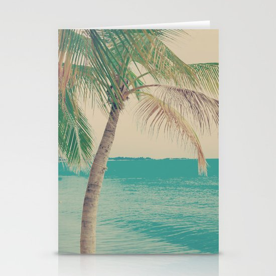 Coco Palm in the Beach  Stationery Card