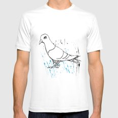 Bird Of Grey Mens Fitted Tee SMALL White