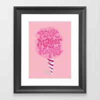 cotton candy pinkaholic Framed Art Print