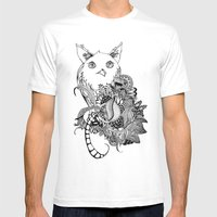 Inking Owl Mens Fitted Tee White SMALL