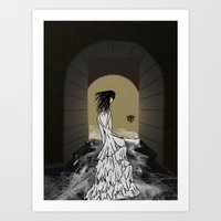 Ghost in the Hallway Art Print
