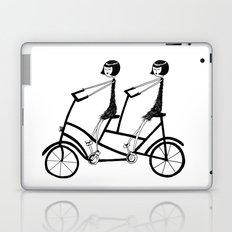 tandem bicycle Laptop & iPad Skin