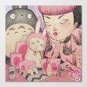 Noodle Eater Canvas Print