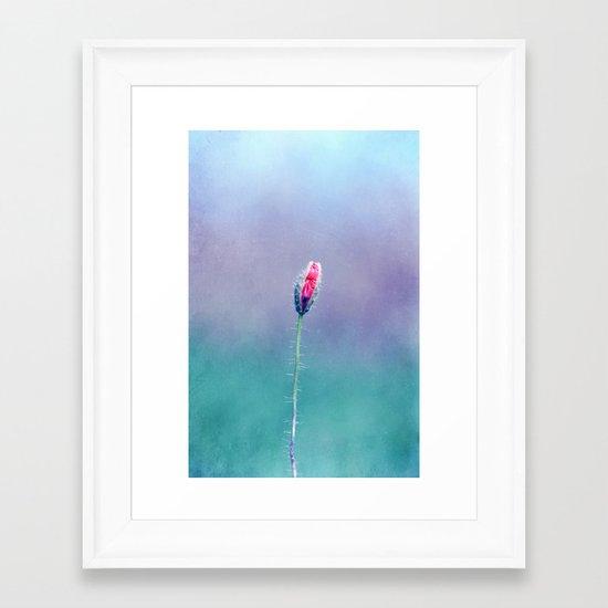 little poppy Framed Art Print