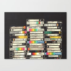 VHS Stack Canvas Print