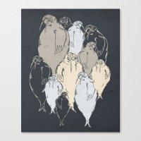 Walrus Pod Canvas Print
