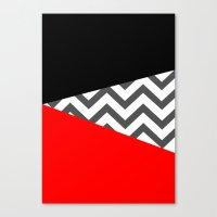 Color Blocked Chevron 10 Canvas Print