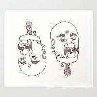 icecream man with three eyes Art Print