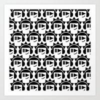 Heads Inverse Art Print
