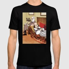 Freud analysing Shakespeare Mens Fitted Tee SMALL Black