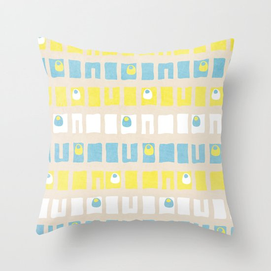 Boxed Eyes Throw Pillow