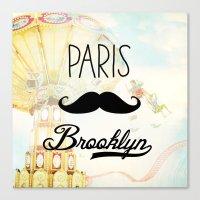 Paris Brooklyn Canvas Print