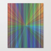 Colourful Rays Canvas Print