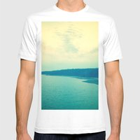 Dreams In Shades Of Blue Mens Fitted Tee White SMALL