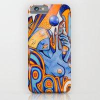 iPhone & iPod Case featuring Blue-Orange by Miss Geisterhausen