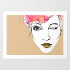 Life is a canvas, throw all the paint and sparkles on it you can Art Print