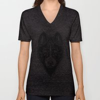 Dog black  Unisex V-Neck