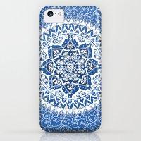 iPhone 5c Cases featuring Yin Yang Mandala Pattern (Blue & Yellow) by Laurel Mae
