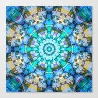 Into The Blue Kaleidosco… Canvas Print
