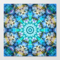 Into The Blue Kaleidosco… Canvas Print