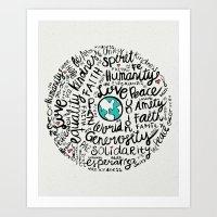 Positive Messages Art Print