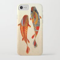 minimalist iPhone & iPod Cases featuring Kolors Koi by Fernando Vieira