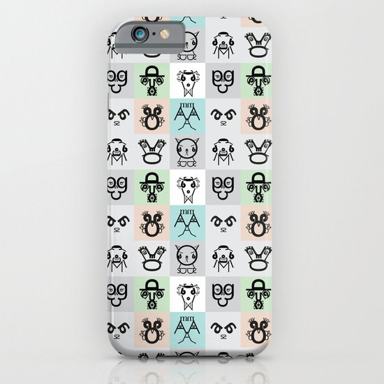 Typographic Characters iPhone & iPod Case