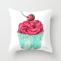 Creative Cupcake... Throw Pillow