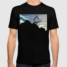 My Neighbor SMALL Mens Fitted Tee Black