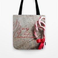 Merry Christmas Candy Ca… Tote Bag